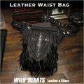 レザーウエストバッグ レッグベルト付き ヒップバッグ 牛革 Leather Waist Bag Leather Waist Fanny Pack WILD HEARTS Leather&Silver (ID wb3748b43)