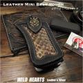 ミニ ベルトポーチ たばこ&スマホケース iPhone ホルダー レザー 牛革 パイソン柄 コンチョ Leather Smartphone iPhone cigarette Holster Case Python WILD HEARTS Leather&Silver(ID cc4228r38)