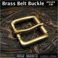 ベルト バックル 取り替え用 真鍮 40mm Belt BuckleSolid Brass WILD HEARTS Leather & Silver (ID mb3661r15)
