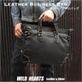メンズ 革 ビジネスバッグ 牛革 ブリーフケース Men's Best Quality genuine Cowhide Leather Business Bag Briefcase Handbag Work Bag WILD HEARTS Leather&Silver (ID bb3522b32)