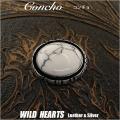 クリックポストのみ送料無料! コンチョ/インディアンジュエリー/ホワイトターコイズ/ Metal Concho/Native American/White Turquoise (ID co1195)