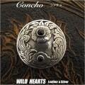 クリックポストのみ送料無料!コンチョ Concho 合金 metal インディアン Native American style  オニキス Onyx (ID con1909)