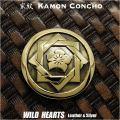 家紋コンチョ 坂本龍馬 真鍮 家紋 組み合い角に桔梗 Family Crests of Japan Samurai Family Crests Coat of Arms Brass Concho WILD HEARTS Leather&Silver(ID cc2213)