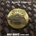クリックポストのみ送料無料!家紋コンチョ 真鍮 楠木正成 家紋 菊水紋  Samurai Family Japanese Crest Brass Concho  (ID cc2219)