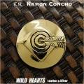 クリックポストのみ送料無料!家紋コンチョ 的に当り矢 真鍮 家紋 Family Crests of Japan Samurai Family Crests Coat of Arms Brass Concho WILD HEARTS Leather&Silver(ID cc2220)
