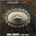 コンチョ ウエスタンコンチョ インディアンスタイル ターコイズ 合金 Concho Native American Style Turquoise Metal WILD HEARTS Leather&Silver (ID cc2248)
