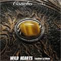 クリックポストのみ送料無料!コンチョ シルバー925 シルバーコンチョ タイガーアイ  インディアンジュエリーConcho Sterling Silver Tiger's Eye Indian/Native American style WILD HEARTS Leather&Silver (ID cc2834)