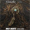 クリックポストのみ送料無料!コンチョ インディアンジュエリー 真鍮/ターコイズ ドリームキャッチャー Concho Native American Dreamcatcher Turquoise/Brass WILD HEARTS Leather&Silver (ID co1509)