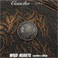 クリックポストのみ送料無料!コンチョ インディアン ネイティブアメリカン 合金 小 Concho Metal Native Indian Liberty WILD HEARTS Leather&Silver(ID cc3047)