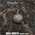 クリックポストのみ送料無料!シルバーアクセサリー コンチョ シルバー925 Concho   Sterling Silver 925 WILD HEARTS Leather&Silver (ID co3280)