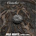 クリックポストのみ送料無料!シルバーアクセサリー コンチョ シルバー925 Concho   Sterling Silver 925 WILD HEARTS Leather&Silver (ID co3281)