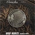 クリックポストのみ送料無料!コンチョ インディアン ネイティブアメリカン 合金 Concho Metal Native Indian Liberty WILD HEARTS Leather&Silver(ID cc3046)