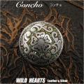 クリックポストのみ送料無料!コンチョ 合金 ウエスタン ターコイズ ねじ式 Concho Western Turquoise Metal WILD HEARTS Leather&Silver (ID cc3375)