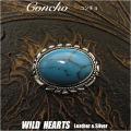 クリックポストのみ送料無料!コンチョ 合金 ウエスタン ターコイズ ねじ式 Concho Western Turquoise Metal WILD HEARTS Leather&Silver (ID cc3377)