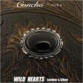 クリックポストのみ送料無料!コンチョ 合金 ウエスタン オニキス ねじ式 Concho Western Onyx Metal WILD HEARTS Leather&Silver (ID cc3378)