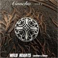 クリックポストのみ送料無料!シルバー 925 コンチョ クロス アラベスク模様 ジルコニア Sterling Silver 925 Cross Arabesque  Concho with zirconia WILD HEARTS Leather&Silver (ID ch101t32)