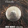 クリックポストのみ送料無料!合金コンチョ USコインコンチョ コインモチーフ ねじ式  Metal Coin Concho US Coin mothif WILD HEARTS Leather&Silver (ID cc3598)