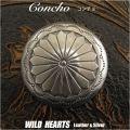クリックポストのみ送料無料!コンチョ 合金 ウエスタン ねじ式 Concho Western Metal WILD HEARTS Leather&Silver (ID cc3600)