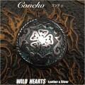 クリックポストのみ送料無料!コンチョ ウエスタン 合金 Metal インディアンジュエリー concho western Indian jewelry WILD HEARTS Leather&Silver (ID cc1304)