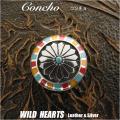 クリックポストのみ送料無料!コンチョ インディアンジュエリー シルバー925 Solid 925 silver Concho Native American WILD HEARTS Leather&Silver (ID 0273t33)
