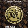 新撰組 コンチョ 誠 紋章 真鍮 Shinsengumi family crest japan Brass Concho WILD HEARTS Leather&Silver (ID cc3898)