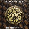 宮本武蔵 九曜巴 家紋 コンチョ 真鍮 Samurai family crest japan Miyamoto Musashi Brass Concho  WILD HEARTS Leather&Silver (ID cc3900)
