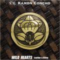 家紋コンチョ 真鍮 戦国武将 井伊直政 家紋 橘紋 丸に橘の花  Samurai Family Japanese Crest Brass Concho WILD HEARTS Leather&Silver (ID cc3901)