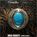 コンチョ インディアンジュエリー シルバー925 ハウライトターコイズ 真鍮 Concho Silver925 Brass Howlite Turquoise WILD HEARTS Leather&Silver(ID co3920)