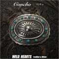 クリックポストのみ送料無料!コンチョ ターコイズ 合金 インディアンジュエリー  Concho Metal Turquoise Indian jewelry  WILD HEARTS Leather&Silver (ID cc1305)
