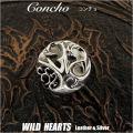 クリックポストのみ送料無料!コンチョ トライバル Concho Tribal Sterling Silver925  WILD HEARTS Leather&Silver (ID con10t2)