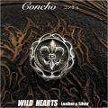 クリックポストのみ送料無料!コンチョ フレア トライバル シルバー925 Concho fleur-de-lys Tribal Silver925 WILD HEARTS Leather&Silver(ID con11t2)