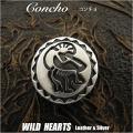 クリックポストのみ送料無料!ココペリ カチナ カチーナ Concho kokopelli  Kasina Kachina Silver 925 WILD HEARTS Leather&Silver (ID con3t2)