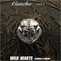 クリックポストのみ送料無料!コンチョ シルバー925  髑髏 スカル ドクロ  Concho Skull Pirates of Caribbean Silver 925 WILD HEARTS Leather&Silver (ID con4t2)