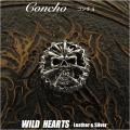 クリックポストのみ送料無料!コンチョ シルバー925  髑髏 スカル ドクロ 死神  Concho Skull Grim reaper Death Silver 925 WILD HEARTS Leather&Silver (ID con6t2)