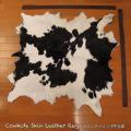 送料無料!カウラグ ハラコ 子牛毛皮 牛革 マット インテリア ミッドセンチュリー 本革 Genuine Cowhide Skin Leather Rug  WILD HEARTS Leather&Silver (ID 14cr4158b35)