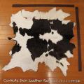 送料無料!カウラグ ハラコ 子牛毛皮 牛革 マット インテリア ミッドセンチュリー 本革 Genuine Cowhide Skin Leather Rug  WILD HEARTS Leather&Silver (ID 4cr4158b35)