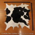 送料無料!カウラグ ハラコ 子牛毛皮 牛革 マット インテリア ミッドセンチュリー 本革 Genuine Cowhide Skin Leather Rug  WILD HEARTS Leather&Silver (ID 6cr4158b35)