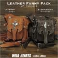 レザーウエストバッグ レッグベルト付き レッグポーチ ヒップバッグ 本革 2色  Leather Waist Bag Leather Waist Fanny Pack WILD HEARTS Leather&Silver(ID wb2425t36)