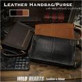 送料無料 メンズ 本革/レザー セカンドバッグ クラッチバッグ ハンドバッグ Men's Genuine Leather Zipper Clutch Long Wallet Purse Handbag Card Checkbook Bag WILD HEARTS Leather&Silver(ID hb4083b27)