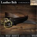 送料無料!ホーウィン社製クロムエクセルレザー 完全オーダーメイドベルト! メンズ ベルト 本革 Horween ハンドメイド ブラウン/ブラック Men's High Quality Genuine Cowhide Leather Belt Pin Buckle Brown/Black WILD HEARTS Leather&Silver (ID horweenbelt_t57)