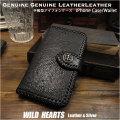 iPhone 手帳型 レザーケース アイフォン プラスケース 馬革 ブラック Genuine  Leather Wallet Card Holder Cover Flip Case for iPhone 6,6s,7,8,X,XS/6,6s,7,8 Plus,XS Max/XR Horsehide Black(ID ip3888)