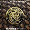 クリックポストのみ送料無料!家紋コンチョ 真鍮 家紋 丸に三つ藤巴 Family Crests of Japan Samurai Family Crests Coat of Arms Brass Concho WILD HEARTS Leather&Silver (ID cc3526)