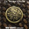 クリックポストのみ送料無料!家紋 コンチョ 真鍮 紋章 丸に揚羽蝶 揚羽蝶紋 Family Crests of Japan Samurai Family Crests Coat of Arms Brass Concho (ID cc2514)