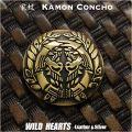 クリックポストのみ送料無料!コンチョ 真鍮 紋章 家紋 伊達正宗 竹に雀 竹に雀紋 Family Crests of Japan Samurai Family Crests Coat of Arms Brass Concho WILD HEARTS Leather&Silver(ID cc2516)