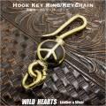 クリックポストのみ送料無料!ピースマーク キーホルダー キーチェーン  キーフック 真鍮 Key Chain Holder Key Ring Peace Symbol Sign Love&Peace Brass (ID kh3213k11)