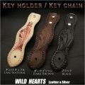 クリックポストのみ送料無料! ベルトループのみの販売です!ベルトループ キーホルダー レザー Hand Carved Genuine Leather Belt Loop WILD HEARTS Leather & Silver (ID con05k4)