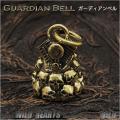 ガーディアンベル バイカーベル 真鍮 キーホルダー スカル ペンダント Guardian Bell Harley Accessory Motorcycle Ride Bell Skull Brass Pendantl WILD HEARTS Leather&Silver(ID kh3471k5)