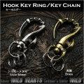 クリックポストのみ送料無料!トライバル キーフック キーホルダー キーリング メタル Tribal Hook Key Ring Keychain Metal WILD HEARTS Leather&Silver (ID kh3469k5)