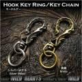 クリックポストで送料無料!トライバル キーホルダー キーフック  キーリング 真鍮/メタル合金 Tribal Hook Key Ring Keychain Brass Metal WILD HEARTS Leather&Silver(ID kh3472k5)