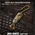 クリックポストのみ送料無料!キーホルダー  キーフック イーグルフェザー インディアンジュエリー 真鍮/ターコイズ Key Chain Holder Key Ring Native American Style Feather Turquoise/Brass (ID kh3036k11)